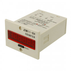JDM11-6H 4 pin DC 12V contact signal input digital electronic counter relay JDM11 12VDC production counter