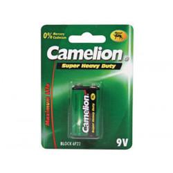 Pile zinc carbone green e block 9v 400mah 6f22c camelion verte 6lf22 am6 6lr61 1604a 522 mn1604
