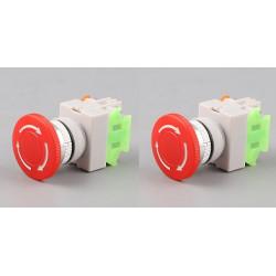 2 X Notfall einstellungsknopf no nf faustschlag diameter 22 mm bpr22 fur boit1 securite anti agressio