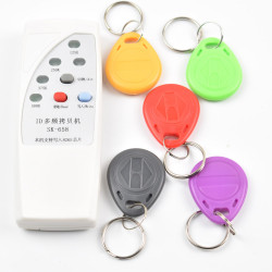 4 frequency RFID Copier/ Duplicator/ Cloner ID EM reader & writer+ 5pcs EM4305 T5577 writable keyfob