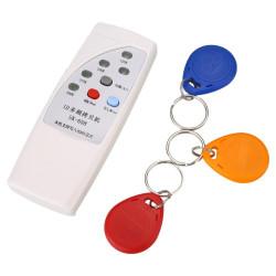4 frecuencia RFID copiadora / duplicador / Cloner ID EM lector y escritor + 3pcs EM4305 T5577 escritura keyfob
