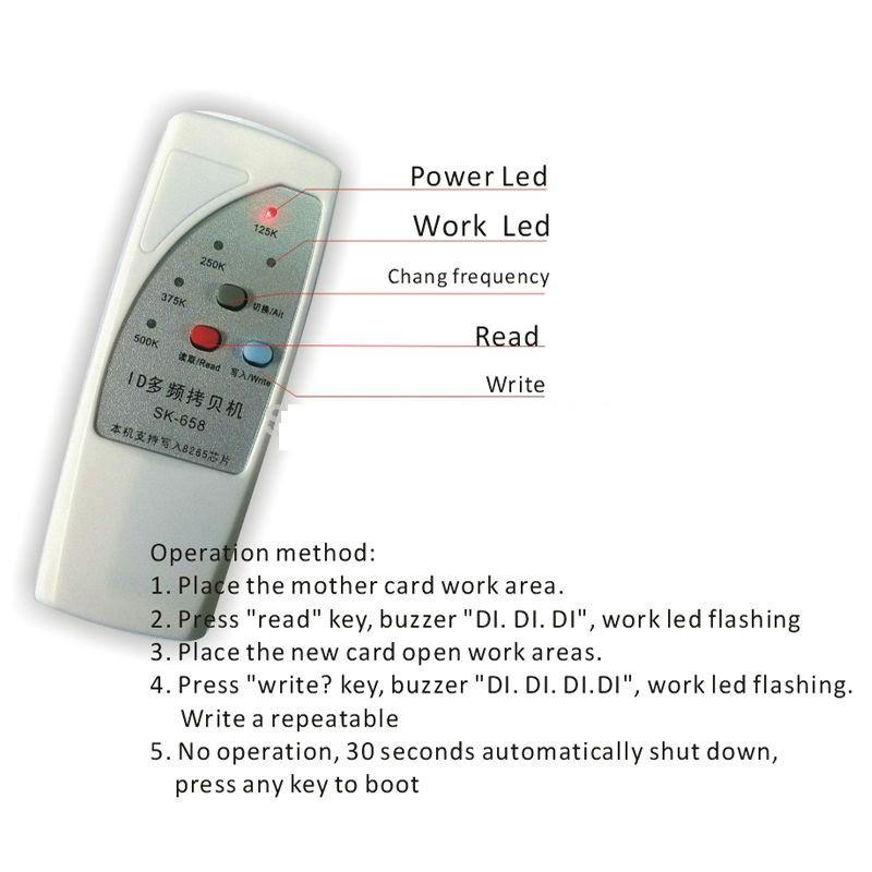 4 frequency RFID Copier/ Duplicator/ Cloner ID EM reader