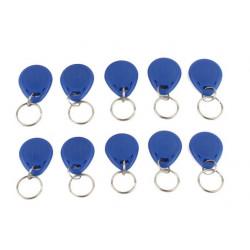 10 pcs tag cle badge clef em4305 em4100 em4102 RFID 125KHz enregistrable bleu