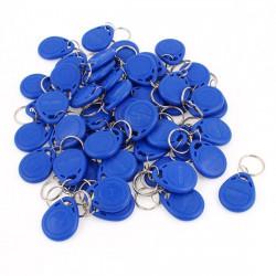 100 pcs tag cle badge clef em4305 em4100 em4102 RFID 125KHz enregistrable bleu