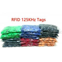 1000 pcs EM4305 Copiar Reescribible Escritura Reescribir EM ID keyfobs RFID Tag Llave Tarjeta de Anillo 125KHZ Proximidad Token