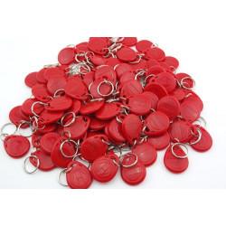 100 pcs tag cle badge clef em4305 em4100 em4102 RFID 125KHz enregistrable rouge