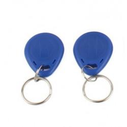 2 pcs tag cle badge clef em4305 em4100 em4102 RFID 125KHz enregistrable bleu