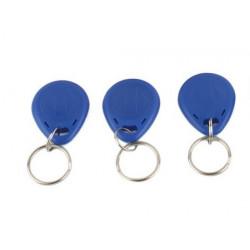 3 pcs tag cle badge clef em4305 em4100 em4102 RFID 125KHz enregistrable bleu