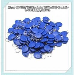 50 pcs tag cle badge clef em4305 em4100 em4102 RFID 125KHz enregistrable bleu pour controle acces