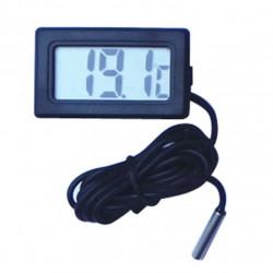 Thermometre digital encastrable cable 3m sonde interieur exterieur congelateur frezer refrigerateur