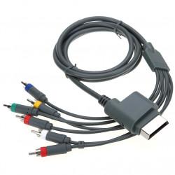 High Definition 5.9ft 1.8M Composite AV RCA HD TV Audio AV Video Cord Optical AV RCA Cable for Xbox 360
