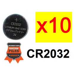 Lot 10 x piles bouton lithium cr2032 3v capacite 230ma alimentation tension cr 2032 cr2032c