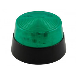 lampara estroboscopica con leds color verde 12vdc diam 77mm haa40gn