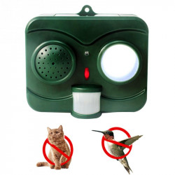 Humane Protective Black Ultrasonic Infrared Sound Flashlight Birds Repeller Driving Controller