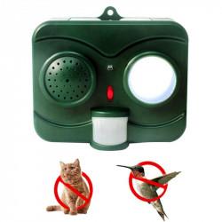 Umano protettivo nero ultrasuoni a infrarossi Sound Flashlight Uccelli Repeller Controllore di guida