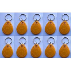 10 pcs tag cle badge clef em4305 em4100 em4102 RFID 125KHz enregistrable jaune