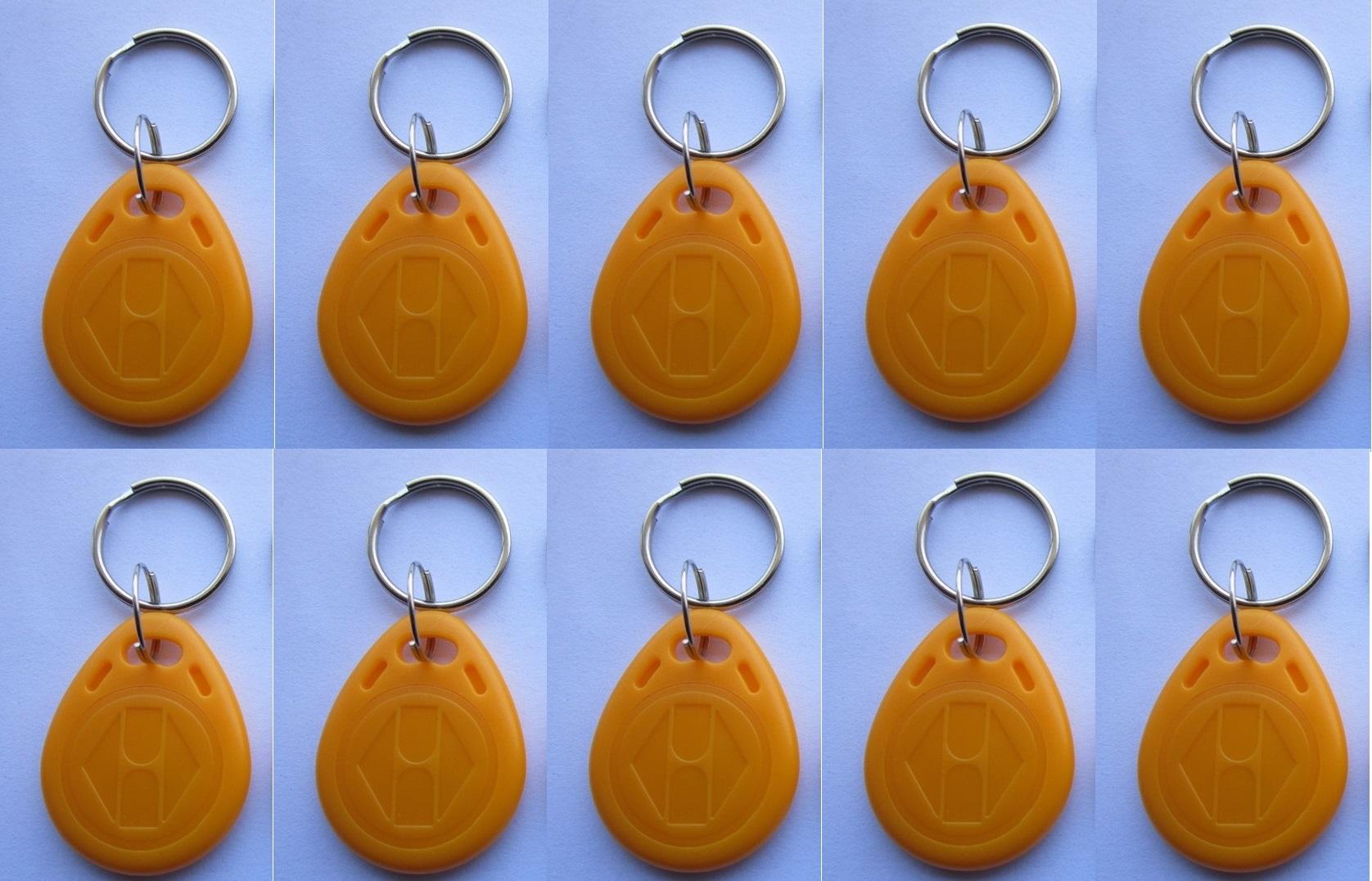 10 pcs EM4305 Copy Rewritable Writable Rewrite EM ID keyfobs RFID Tag Key  Ring Card 125KHZ Proximity Token Access Duplicate - Eclats Antivols