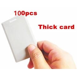 100 x 125KHz rfid T5577 Tarjeta gruesa del sistema de control de acceso Tarjeta RFID reescribible