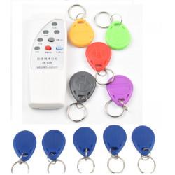 4 frecuencia RFID copiadora / duplicador / Cloner ID EM lector y escritor + 10 pcs EM4305 T5577 escritura keyfob