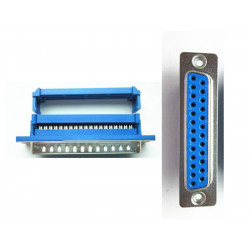 DB25 25 pin Female D-SUB DB-25 Parallel Port IDC Flat Ribbon Cable Terminal Connector Adapter