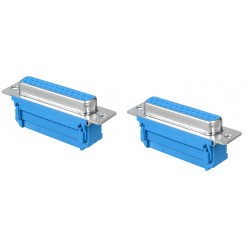 2 X DB25 25 pin Female D-SUB DB-25 Parallel Port IDC Flat Ribbon Cable Terminal Connector Adapter