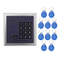 Home Security RFID Proximity Entry Door Lock Access Control System With 10pcs RFID Keys Key fob 13.56mhz