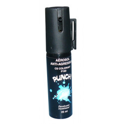 Aérosol défense blue defender gaz cs bleu 2% 25ml spray paralysant bombe lagrymogene