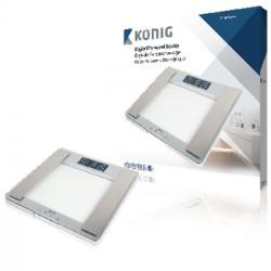 """Pèse-personne numérique écran LCD 1,5"""" Calcul de l'IMC et du MB 180 kg"""