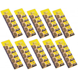 Pack 50 piles lithium 3vcc cr2025 bouton alimentations cr2025 x50