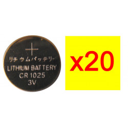 20 pile bouton lithium 3vcc 30mah cr1025 alimentation tension 3v cr1025c cr1025c