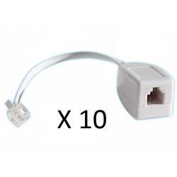 10 X  Rj11 sobretensiones en la línea telefónica como un fax / módem / adsl sobretensiones teléfono 3ka