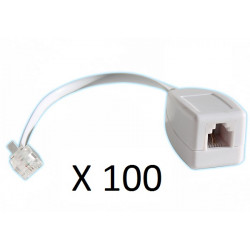100 X Rj11 telephone line surge as one fax / modem / adsl surge arrester 3ka phone