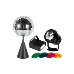 Kit lumiere disco par36 4 filtres couleur boule facettes moteur strobo 20w stroboscope vdlprom9