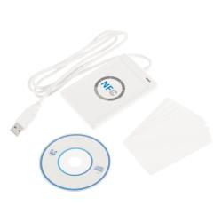 NFC ACR122U RFID lector y escritor inteligente sin contacto / USB + 5X IC Card 2017 al por mayor