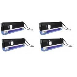 Lot de 4 lampes uv detecteur de faux billet lumiere noire lamp04tbl zluvb ultraviolet carte bancaire