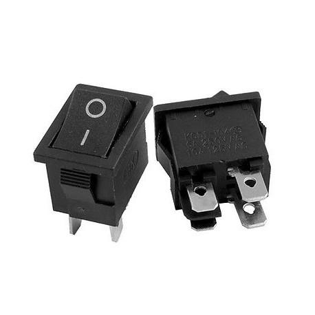 200 x AC 6A//250V 10A//125V 2 Pin On Off SPST Mini Snap-in Boat Rocker Switch