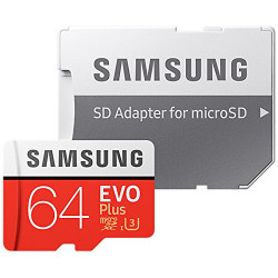 Samsung MB-MC64GA / EU 64G Evo Plus MicroSD Memory Card with SD Adapter