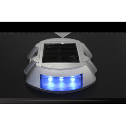 Segnaletica a luce solare con perno blu per strada a 6 segnalazioni di sicurezza stradale a led