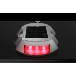 Red road stud stick iluminación solar 6 señales de tráfico led señales de tráfico de seguridad vial