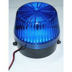 Flash alarme stroboscope electronique xenon 6v 12v couleur bleu esb-100 Ø99x89mm
