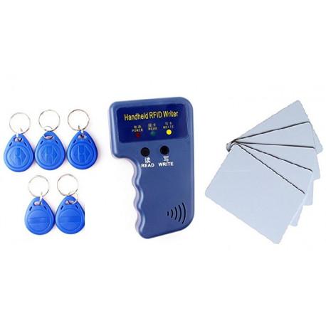 Copieur duplicateur em4100 em4305 T5577 programmateur carte 5 tag RFID 125 KHz + 5 cartes