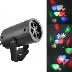 Eclairage laser non etanche 110v 220v lumiere holographique 4w vert rouge multicolor effet lumineux