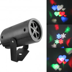 Hot Mini Led Laser Lights christmas laser projector Show 4W moving pattern light Christmas Wedding Party spotlight logo Lamp