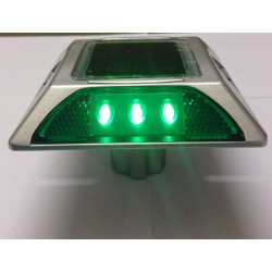 Perno prisionero solar cuadrado del camino del reflector del gato del LED del aluminio con el ancla