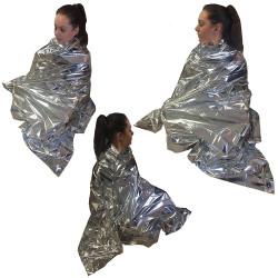 Lot de 3 paquets de couverture thermique Steroplast Kit de survie Camping Randonnée Premiers Secours