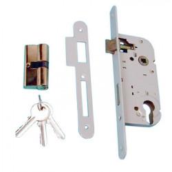 Cerradura para empotrar para puerta + cilindro 2 llaves cierres empotrables para puertas + cilindros 2 llaves cierres