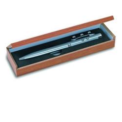 Laser kugelschreiber rot elektronische stechuhr holzgehause als geschenk 143.1651 strahl