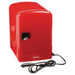 Mini tragbarer Kühlschrank 50 W 4 l Rot