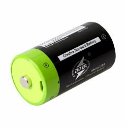 Batterie Rechargeable D lr20 ZNTER ZNT1-1-R S11 1.5v accumulateur 4000mAh USB lithium Polymère
