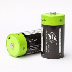 ZNTER ZNT1-1-R 1pce 1.5V 6000mAh USB aufladbare D-Batterie bereiten aufbereitetes aufgeladenes Lithium-Polymer